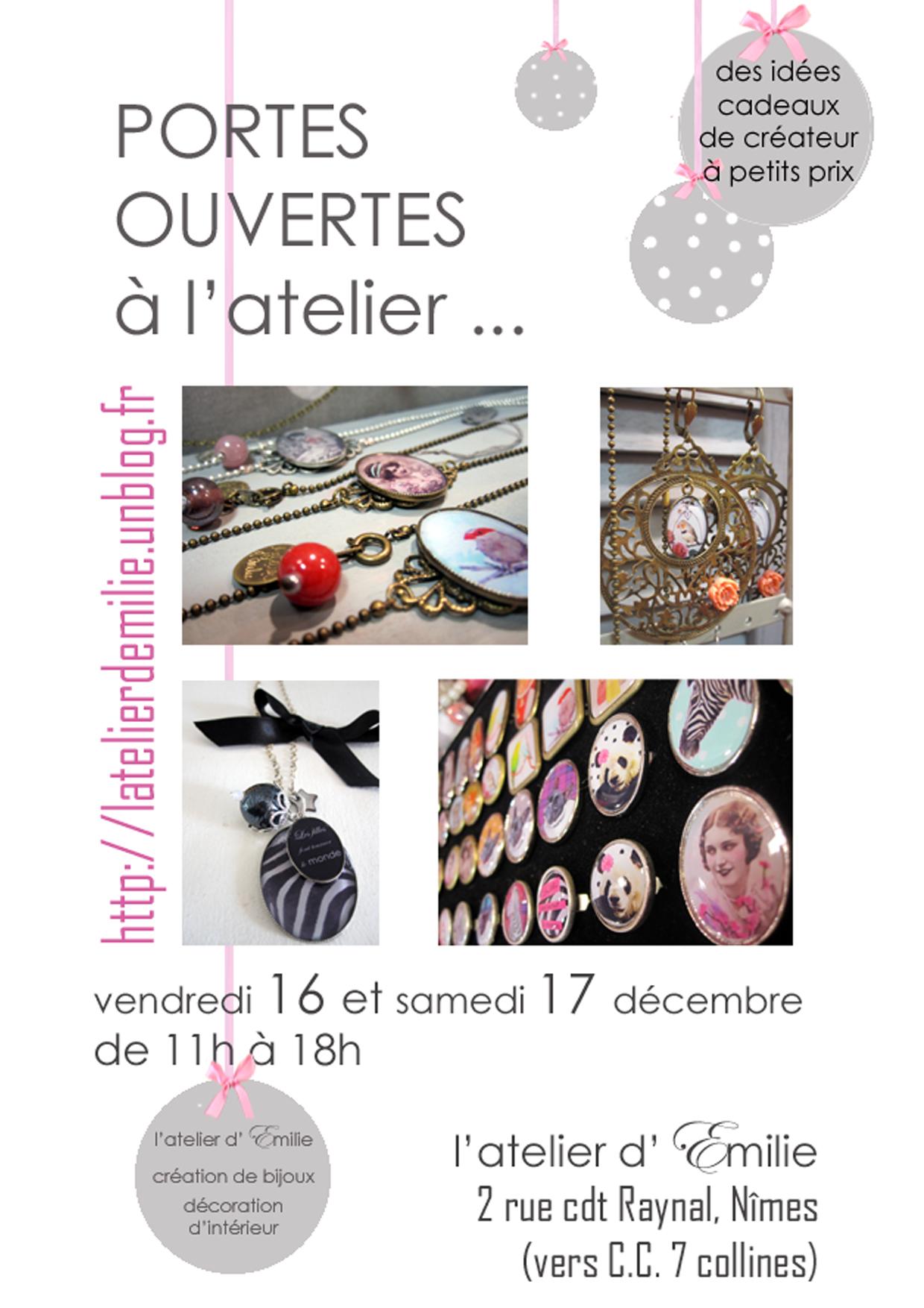 Portes ouvertes a l atelier ce week end l 39 atelier d 39 emilie - Atelier chardon savard portes ouvertes ...